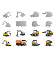 vehicles set vector image vector image