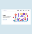 web site design template fitness and vector image vector image