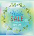 winter sale collection with florals vector image vector image