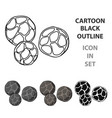 black pepper icon in cartoon style isolated on vector image