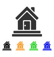 house front door icon vector image