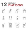 12 soda icons vector image vector image