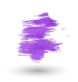 A purple smear of paint vector image vector image