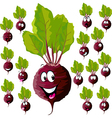 beetroot with many expressions vector image vector image