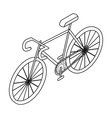 Bicycle icon in outline style isolated on white vector image vector image