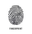 black volume fingerprint whit shadow isolated on vector image vector image