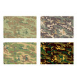 camouflage pattern design with different color vector image vector image