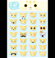 Cat emoji icons 2 vector image vector image