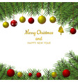 christmas tree and ball background for christmas vector image vector image