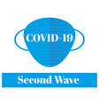 covid19-19 - second wave please wear your mask vector image vector image