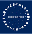 creative cooking and food icon background vector image
