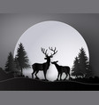 deer in forest with deer in forest with full vector image vector image