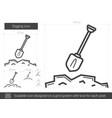 digging line icon vector image vector image