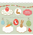 Easter set easter elements vector image vector image