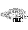 fumes word cloud concept vector image