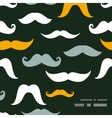 Fun silhouette mustaches frame corner pattern vector image vector image