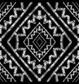 geometric tribal black and white seamless vector image