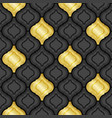 gold and black abstract tiles background vector image vector image