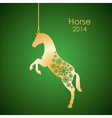 Gold horse vector image vector image