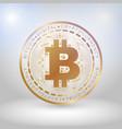 golden bit coin digital currency vector image vector image