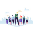 group of business people characters with leader vector image vector image