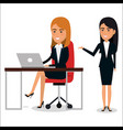 group of businesswoman in workplace teamwork vector image vector image