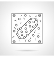 Infectious agent flat line design icon vector image vector image