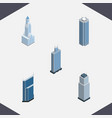 Isometric building set of residential business