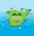 Koh-samui Island Thailand vector image