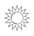 line sun light to sunny weather on vacation vector image vector image