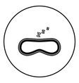 mask for sleep icon black color simple image vector image
