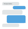 message bubble chat conversation box text sms vector image vector image
