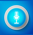 microphone icon isolated on blue background vector image vector image