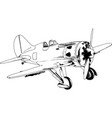 military fighter jet drawn in ink hand vector image