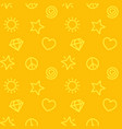minimalistic pattern seamless yellow background vector image vector image