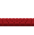 movie theatre red seats empty rows red cinema vector image