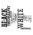 power black and white photography text vector image vector image