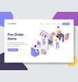 pre-order items isometric vector image
