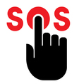 Press SOS button icon vector image vector image