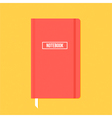 Red notebook with elastic band vector image vector image