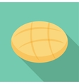 Round bread icon flat style vector image vector image