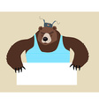 Russian Bear stuff holding blank paper vector image vector image