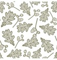 seamless pattern of branches with acorns and oaks vector image vector image