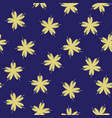 seamless pattern with gold flowers cherry on a vector image