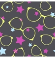 Seamless pattern with sunglasses and stars vector image vector image