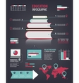 set of education learning infographics vector image vector image