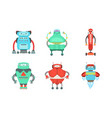 set robots with a cute smile vector image