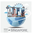Singapore Landmark Global Travel And Journey vector image vector image