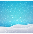 Snowfall and drifts concept for your artwork vector image