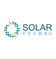 solar technology logo vector image vector image